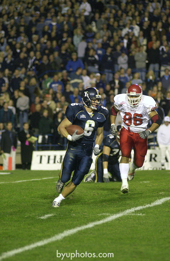 FTB vs Utah  11/17/01  <br /> <br /> 6 Luke Staley Running with the ball<br /> <br /> Photo by Jaren Wilkey/BYU<br /> <br /> Copyright BYU Photo 2009<br /> All Rights Reserved <br /> photo@byu.edu  (801)422-7322