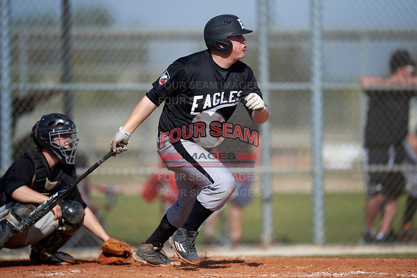 Edgewood Eagles Nick Lehner (36) during the first game of a doubleheader against the Plymouth State Panthers on April 17, 2016 at Lee County Player Development Complex in Fort Myers, Florida.  Plymouth State defeated Edgewood 6-5.  (Mike Janes/Four Seam Images)