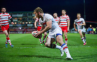Picture by Allan McKenzie/SWpix.com - 17/04/2015 - Rugby League - Ladbrokes Challenge Cup - Wakefield Trinity Wildcats v Halifax RLFC - Rapid Solicitors Stadium, Wakefield, England - Wakefield's Danny Washbrook scores against Halifax.