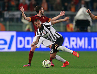 Arturo Vidal  during the Italian Serie A soccer match between   AS Roma and Juventus FC       at Olympic Stadium      in Rome ,March 02 , 2015