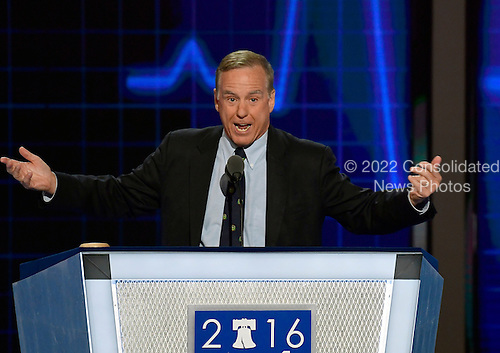 Former Governor Howard Dean (Democrat of Vermont) makes remarks during the second session of the 2016 Democratic National Convention at the Wells Fargo Center in Philadelphia, Pennsylvania on Tuesday, July 26, 2016.<br /> Credit: Ron Sachs / CNP<br /> (RESTRICTION: NO New York or New Jersey Newspapers or newspapers within a 75 mile radius of New York City)