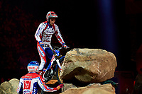 2nd February 2020; Palau Sant Jordi, Barcelona, Catalonia, Spain; X Trial Mountain Biking Championships; Benoit Bincaz (France) of the Beta Team in action during the X Trial indoor Barcelona