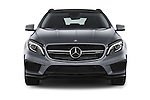 Car photography straight front view of a 2015 Mercedes Benz GLA-KLASSE AMG 5 Door SUV Front View