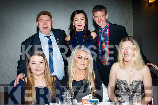 seated L-R Amy McKenna, Maive Horgan and Catherine Costello, back L-R Billy Lyons, Marie McKenna and Tommy Horan at the Born to Run Xmas party in the Ashe hotel, Tralee last Friday night.