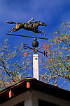 Weathervane atop Seabiscuit Barn, Ridgewood Ranch, near Willits, Mendocino County, California