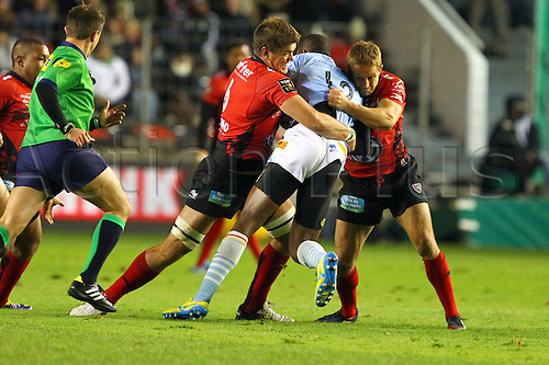 30.11.2013. Toulon, France. Top 14 rugby union. Toulon versus Perpignan.  jonny wilkinson et juan smith (rct)