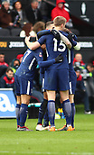17th March 2018, Liberty Stadium, Swansea, Wales; FA Cup football, quarter-final, Swansea City versus Tottenham Hotspur; Tottenham Hotspur players celebrate increasing their lead to 0-2 in the 1st half