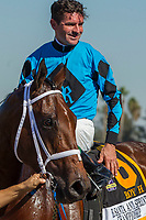 "ARCADIA, CA. OCTOBER 7: #6 Roy H, ridden by Kent Desormeaux, wins the Santa Anita Sprint Championship (Grade l)""Win and You're In Sprint Division"" on October 7, 2017, at Santa Anita Park in Arcadia, CA. (Photo by Casey Phillips/Eclipse Sportswire/Getty Images)"