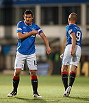 Rangers captain no 3 of the evening as Kenny Miller gives the armband to Graham Dorrans