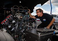 Jun 9, 2017; Englishtown , NJ, USA; NHRA funny car driver Del Worsham during qualifying for the Summernationals at Old Bridge Township Raceway Park. Mandatory Credit: Mark J. Rebilas-USA TODAY Sports