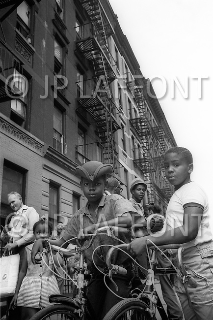 Bronx, New York City, NY - Summer of 1966 <br /> On Fox Street in the Bronx, street scene.