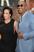 Dany Garcia Dwayne Johnson <br /> Skyscraper premiere<br /> 7-10- 2018<br /> Photo By John Barrett/PHOTOlink.net