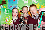 SCIENTISTS: Pupils from Lyreacrompane National School who were part of the Schools Science Team that will be presented with their Discovery Science Primary Award for Science Excellence in Dublin next week..L/r. Yvonne Murphy, Richie O'Regan and Padraig O'Donoghue..