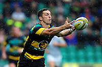 George North of Northampton Saints looks to catch the ball. Aviva Premiership match, between Northampton Saints and Bath Rugby on September 3, 2016 at Franklin's Gardens in Northampton, England. Photo by: Patrick Khachfe / Onside Images