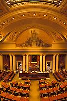 St. Paul, MN, State Capitol, State House, Minnesota, Twin Cities, The House of Representatives inside the Minnesota State Capitol building in the capital city of Saint Paul.