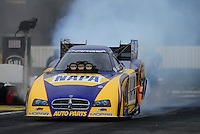 Nov. 8, 2012; Pomona, CA, USA: NHRA funny car driver Ron Capps during qualifying for the Auto Club Finals at at Auto Club Raceway at Pomona. Mandatory Credit: Mark J. Rebilas-