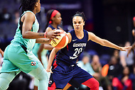 Washington, DC - June 15, 2018: Washington Mystics guard Kristi Toliver (20) gets back on defense during game between the Washington Mystics and New York Liberty at the Capital One Arena in Washington, DC. (Photo by Phil Peters/Media Images International)