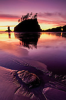sunset at Second Beach, Olympic Peninsula, Washington State
