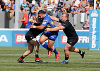 Konrad Hurrell powers forward for Leeds during London Broncos vs Leeds Rhinos, Betfred Super League Rugby League at Trailfinders Sports Club on 1st September 2019
