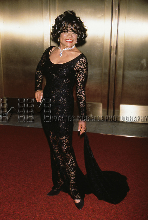 Eartha Kitt pictured at the Tony Awards at Radio City Music Hall in New York City on June 4, 2000.