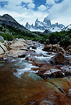 Rushing stream, Los Glaciares National Park, Argentina
