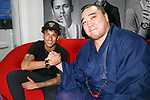 (L to R) Neymar Jr and Japanese sumo wrestler Harumafuji Kohei, shake hands at GaGa MILANO Harajuku store on May 30, 2017, Tokyo, Japan. Many fans gathered in front of GaGa MILANO store in Tokyo's fashion district of Harajuku to get a glimpse of their idol. The Brazilian soccer player is in Japan to promote GaGa Milano watches. The brand is celebrating their 8th anniversary since its launch in Japan. (Photo by Rodrigo Reyes Marin/AFLO)