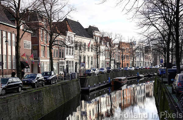 Nederland - Gouda - December 2018. Huizen aan de Oosthaven.   Foto Berlinda van Dam