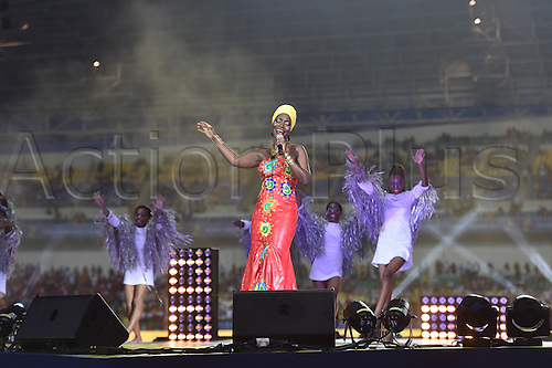 February 5th, 2017, Gabon, Africa; African Cup of Nations football tounament final, Egypt versus Cameroon;  Closing ceremony<br /> Concert