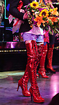 Boot detail, 'Panic! at The Disco's' Brendon Urie makes his broadway debut as 'Charlie Price' in 'Kinky Boots' on Broadway at The Al Hirschfeld Theatre on June 4, 2017 in New York City.