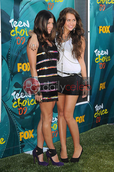 Stacy Ferguson and Miley Cyrus<br />