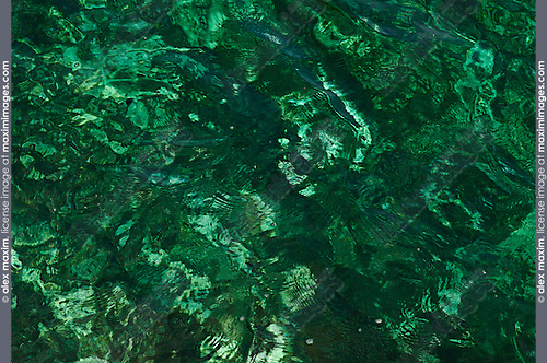 Stock photo of Crystal clear emerald green Mediterranean Sea water texture background