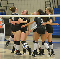 NWA Democrat-Gazette/ANDY SHUPE<br /> Rogers' Bentonville's Tuesday, Oct. 9, 2018, during play in King Arena in Rogers. Visit nwadg.com/photos to see more photographs from the match.