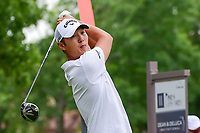 Danny Lee (NZL) watches his tee shot on 11 during round 4 of the Dean &amp; Deluca Invitational, at The Colonial, Ft. Worth, Texas, USA. 5/28/2017.<br /> Picture: Golffile | Ken Murray<br /> <br /> <br /> All photo usage must carry mandatory copyright credit (&copy; Golffile | Ken Murray)