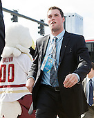 Brian Dumoulin (BC - 2) - The Boston College Eagles were greeted by fans along the red carpet entrance to the arena prior to the final. The Boston College Eagles defeated the Ferris State University Bulldogs 4-1 (EN) in the 2012 Frozen Four final to win the national championship on Saturday, April 7, 2012, at the Tampa Bay Times Forum in Tampa, Florida.