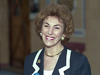 Edwina Currie, MP, Consrvative Party, UK, annual conference, Blackpool, October, 1996, 199510001539<br /><br />Copyright Image from Victor Patterson, Belfast, UK, BT9 5HG<br /><br />t: +44 28 9066 1296 <br />(from Rep of Ireland 048 9066 1296) <br />m: +44 7802 353836 <br />victorpattersonbelfast@gmail.com <br />www.victorpatterson.com<br /><br />Please see my Terms and Conditions of Use at https://www.victorpatterson.com/page2 <br /><br />It is IMPORTANT that you familiarise yourself with them.<br /><br />Images used on the Internet incur an additional cost and must be visibly watermarked i.e. © Victor Patterson within the body of the image and copyright metadata must not be deleted. Images used on the Internet have a size restriction of 4kbs and are chargeable at rates available at victorpatterson.com.<br /><br />This image is only available for the use of the download recipient i.e. television station, newspaper, magazine, book publisher, etc, and must not be passed on to any third party. It is also downloaded on condition that each and every usage is notified within 7 days to victorpattersonbelfast@gmail.com<br /><br />The right of Victor Patterson to be identified as the author is asserted in accordance with The Copyright Designs And Patents Act (1988). All moral rights are asserted.