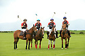 Tyrella House Polo players (left to rigth) Jamie McCarthy, Nicky Wilson, Richard Suitor and Paul Donnelly, at Tyrella House, County Down, Monday June3rd, 2019. (Photo by Paul McErlane for Belfast Telegraph)