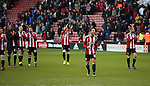 Billy Sharp of Sheffield Utd and the players take in the applause during the English League One match at Bramall Lane Stadium, Sheffield. Picture date: December 31st, 2016. Pic Simon Bellis/Sportimage