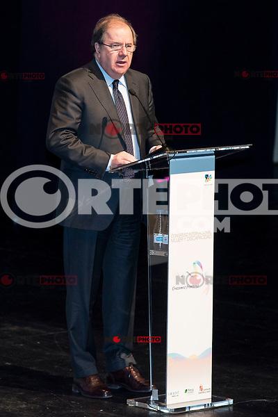 "President of Castilla y Leon, Juan Vicente Herrera during the closing of International Congress ""Woman and Disability"" at congress center ""Lienzo Norte"" in Avila, Spain. March 01, 2017. (ALTERPHOTOS/BorjaB.Hojas)"