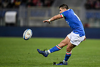 Tommaso Allan Italy.<br />  <br /> Roma 9-02-2019 Stadio Olimpico<br /> Rugby Six Nations tournament 2019  <br /> Italy - Wales <br /> Foto Antonietta Baldassarre / Insidefoto