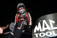 Sept. 1, 2012; Claremont, IN, USA: NHRA funny car driver Courtney Force during qualifying for the US Nationals at Lucas Oil Raceway. Mandatory Credit: Mark J. Rebilas-