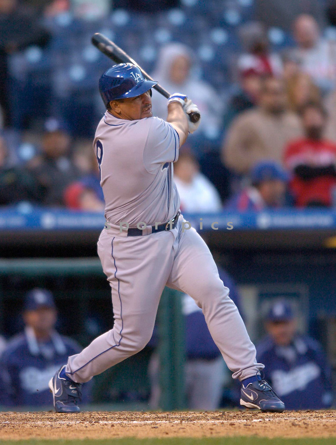 Olmedo Saenz, of the LA Dodgers in action against the Philadelphia Phillies in Philadelphia...Chris Bernacchi / SportPics
