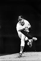 Burt Blyleven of the California Angels during a 1989 season game at Anaheim  Stadium in Anaheim,California.(Larry Goren/Four Seam Images)