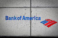 Bank of America logo is seen on their corporate office in Toronto  financial district April 22, 2010. Bank of America Corporation (NYSE: BAC) is a financial services company, the largest bank holding company in the United States, by assets, and the second largest bank by market capitalization.