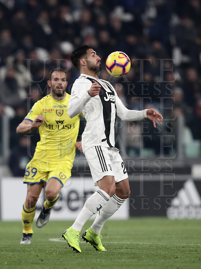 Calcio, Serie A: Juventus - Chievo Verona, Turin, Allianz Stadium, January 21, 2019.<br /> Juventus&rsquo; Emre Can in action during the Italian Serie A football match between Juventus and Chievo Verona at Torino's Allianz stadium, January 21, 2019.<br /> UPDATE IMAGES PRESS/Isabella Bonotto