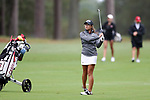 CHAPEL HILL, NC - OCTOBER 13: South Carolina's Marion Veysseyre (FRA) on the 10th hole. The first round of the Ruth's Chris Tar Heel Invitational Women's Golf Tournament was held on October 13, 2017, at the UNC Finley Golf Course in Chapel Hill, NC.