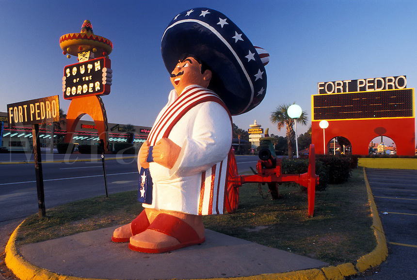 Pedro, South of the Border, SC, South Carolina, NC, Statue of Pedro at the South of the Border off of I-95 the South Carolina and North Carolina border.