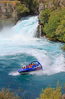 NZ Lake Taupu and Huka Fall