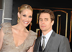 "HOLLYWOOD, CA. - April 26: Leslie Bibb and Sam Rockwell arrive at the ""Iron Man 2"" World Premiere held at the El Capitan Theatre on April 26, 2010 in Hollywood, California."