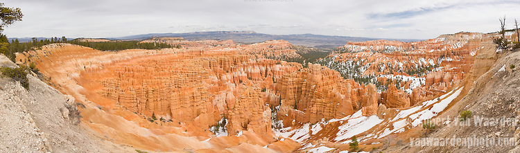 Panorama of the orange hoodoos of Bryce Canyon, Utah, USA