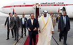 Egyptian President Abdel Fattah al-Sisi meets with Sheikh Mohammed bin Zayed al-Nahyan, Crown Prince of Abu Dhabi, in the capital Cairo on April 21, 2016. Photo by Egyptian President Office